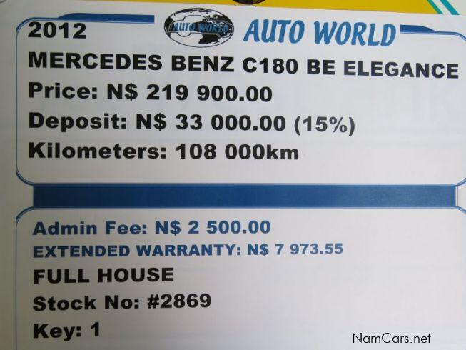 Used Mercedes Benz C180 Be Elegance 2012 C180 Be